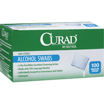 Curad Medium Alcohol Swabs