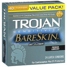 Trojan Sensitivity Bareskin Premium Latex Condoms