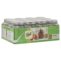 Ball Regular Pint Jars with Lids and Bands - 12 CT