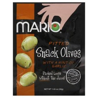 Mario Pitted with a Hint of Garlic Snack Olives