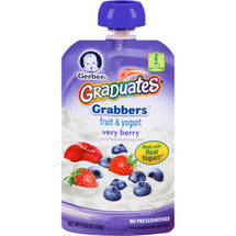 Gerber Graduates Grabbers Very Berry Fruit & Yogurt