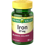 Spring Valley Iron Dietary Supplement Tablets