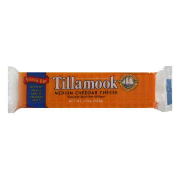 Tillamook Medium Cheddar Snack Bar Cheese