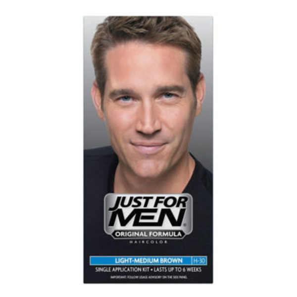 Just For Men Single Color Application Kit Light-Medium Brown H-30
