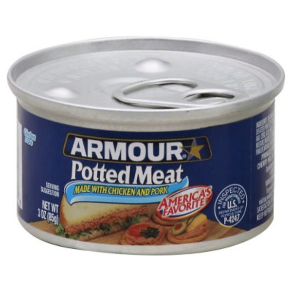 Armour Made with Chicken & Pork Potted Meat