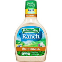 Hidden Valley Original Ranch Light Dressing Buttermilk 24 Fluid Ounce Bottle