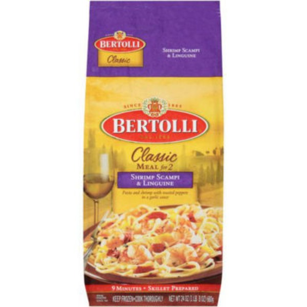 Bertolli Shrimp Scampi & Linguine Classic Meal for 2