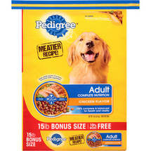 Pedigree Adult Complete Nutrition Chicken Flavor Dog Food