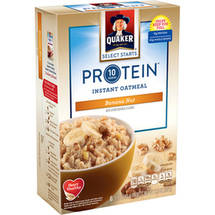 Quaker Select Starts Protein Banana Nut Instant Oatmeal