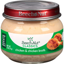 Beech Nut Chicken And Chicken Broth Stage 1 Baby Food