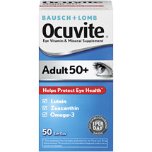 Ocuvite Adults 50 Soft Gels Eye Vitamin & Mineral Supplement