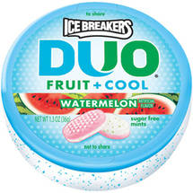 Ice Breakers Duo Fruit + Cool Watermelon Sugar Free Mints