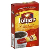 Folgers Instant Coffee Crystals Classic Roast Single Serve Packets