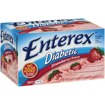 Enterex Diabetic Strawberry Nutritional Beverage