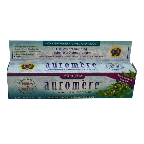Auromere Toothpaste, Ayurvedic Herbal, Mint-Free
