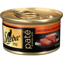 Sheba Cat Food Premium Pate in Natural Juices Chicken & Liver Entree
