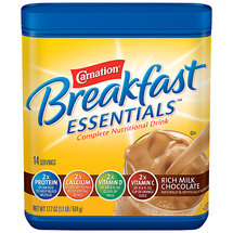 Carnation Breakfast Essentials Rich Milk Chocolate Complete Nutritional Drink