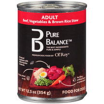 Pure Balance Beef Vegetables and Brown Rice Stew Adult Canned Dog Food