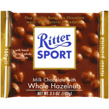 Ritter Sport Milk Chocolate Whole Hazelnut