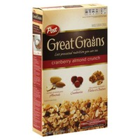 Post Great Grains Cranberry Almond Crunch Whole Grain Cereal