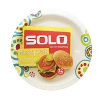 Solo Heavy Duty Decorated Paper Plate