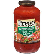 Prego Chunky Garden Italian Sauce With Tomato Onion & Garlic