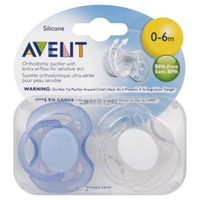 Avent Philips Avent BPA Free Freeflow Pacifier, 0-6 Months, Colors May Vary,
