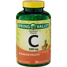 Spring Valley Chewable C Vitamin Multiple Fruit flavors Dietary Supplement