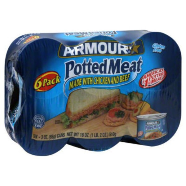 Armour Made W/Chicken & Beef Potted Meat