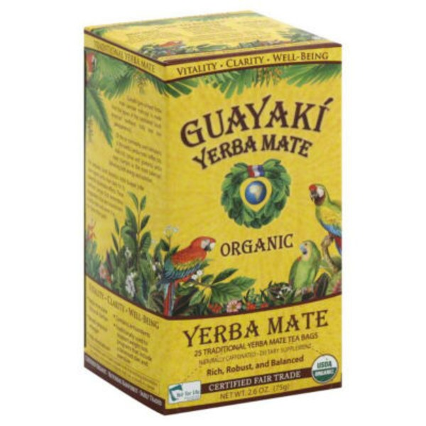 Guayaki Yerba Mate Tea Bags Traditional - 25 CT