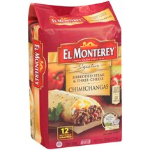 El Monterey Supreme Monterey Shredded Steak & Cheese Chimichangas