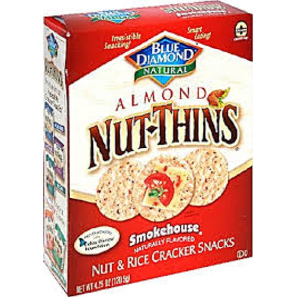 Blue Diamond Almond Nut-Thins Smokehouse Nut & Rice Cracker Snacks