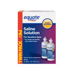 Equate Saline Solution for Sensitive Eyes Twin Pack