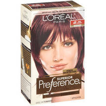 L'Oreal Paris Superior Preference Fade Defying Color and Shine System Dark Auburn 4R