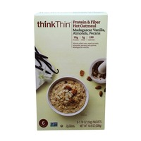 Think Thin Protein & Fiber Madagascar Vanilla, Almonds & Pecans Hot Oatmeal