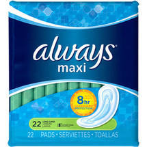 Always Maxi Long Super Pads without Wings