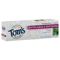 Tom's of Maine Fluoride-Free Antiplaque & Whitening Peppermint Toothpaste