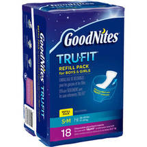 GoodNites TruFit Disposable Absorbent Inserts for Boys & Girls Refill Pack S/M 18ct