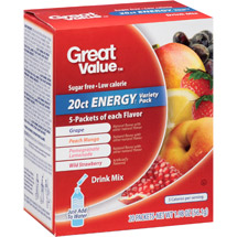 Great Value Energy Variety Pack Drink Mix