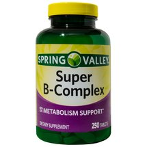 Spring Valley Super B-Complex Dietary Supplement Tablets