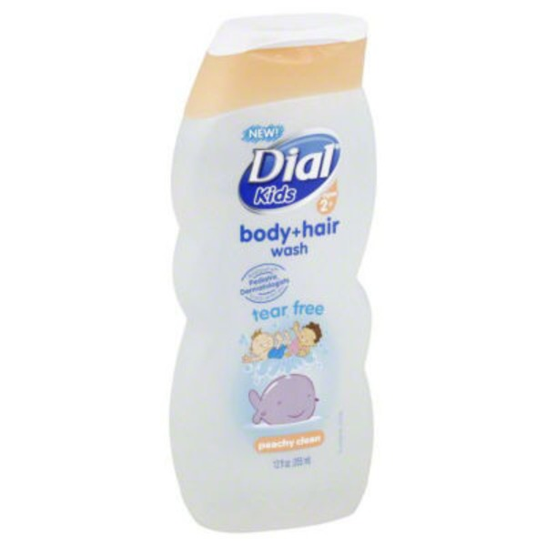 Dial Body Wash Kids Tear Free Peachy Clean Body + Hair Wash