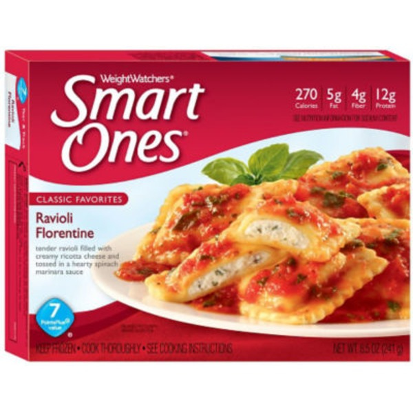 Weight Watchers Savory Italian Recipes Ravioli Florentine Frozen Entree