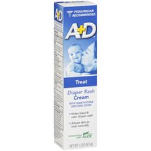 A+D Diaper Rash Cream With Dimethicone And Zinc Oxide