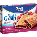 Great Value Mixed Berry Fruit & Grain Bars
