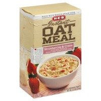 H-E-B Strawberries And Cream Instant Oatmeal