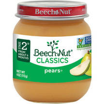 Beech Nut Pears Stage 2 Baby Food