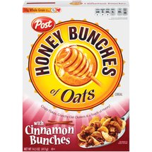 Post Honey Bunches Of Oats Cereal With Cinnamon Bunches