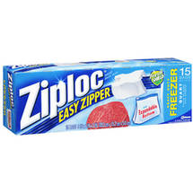 Ziploc Holds 1 Quart Easy Zipper Heavy Duty Freezer Bags