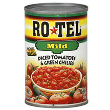 Ro*Tel w/Less Green Chilies Diced Tomatoes & Green Chilies
