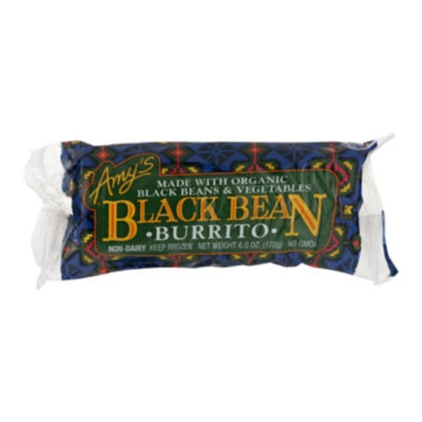 Amy's Black Bean Vegetables Burrito